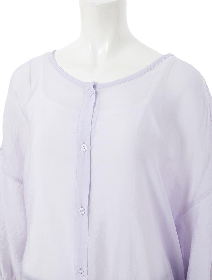 ロングシアーシャツ