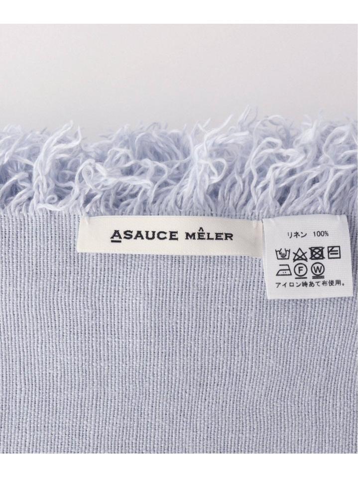 【ASAUCE MELER/アソースメレ】ベルギーリネンフリンジストール