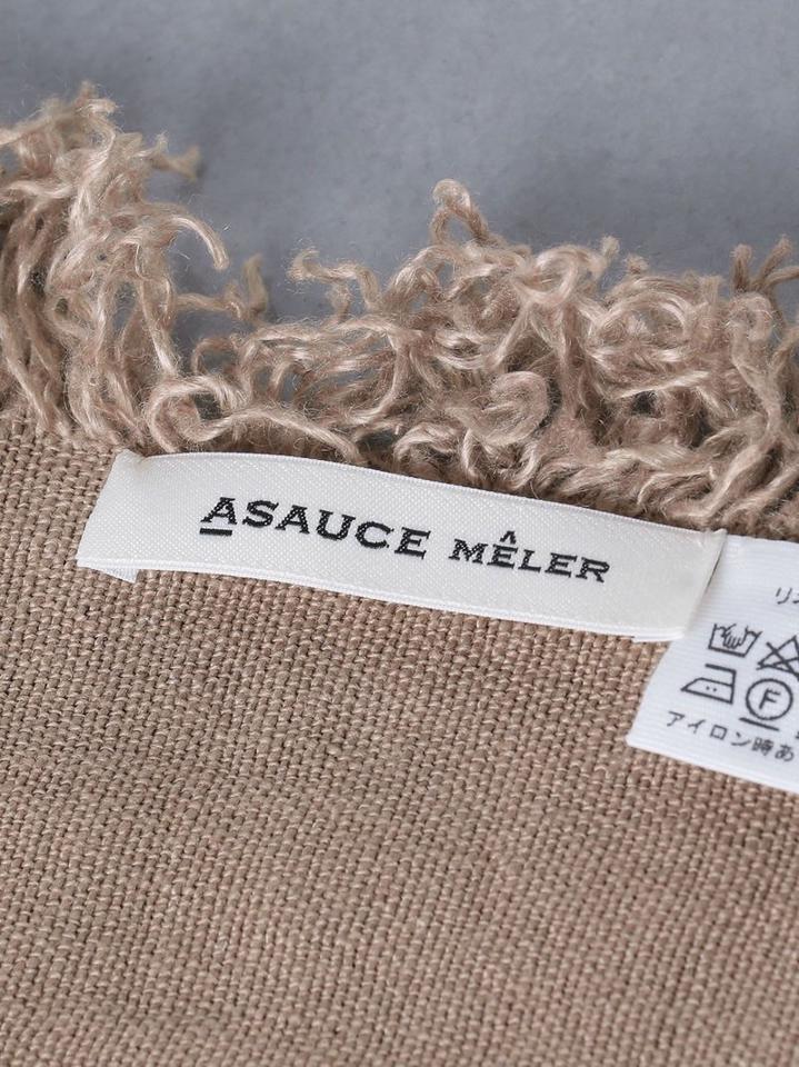 <ASAUCE MELER(アソース メレ)>リネン フリンジ ストール★