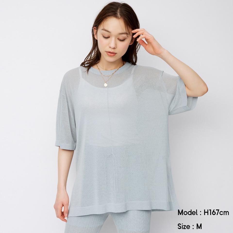 シアーオーバーサイズセーター(半袖)SD(セットアップ可能)