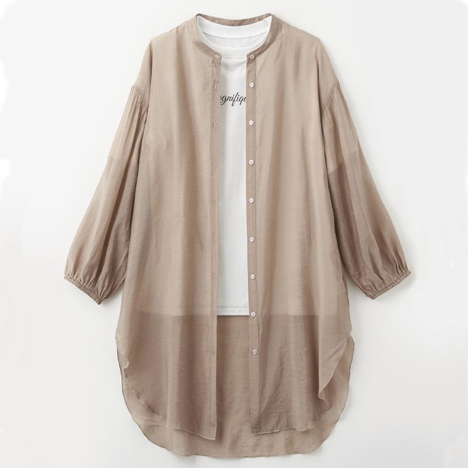 レディース シアーチュニックシャツ+Tシャツセット
