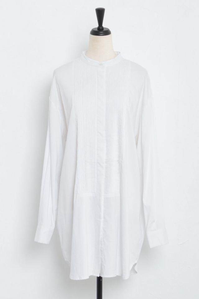 フロントピンタックシャツ