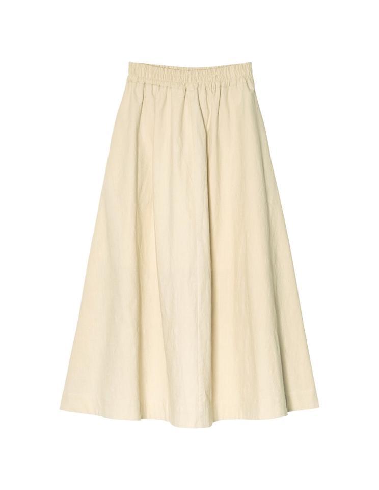 [飯豊まりえさん着用][低身長/高身長サイズ有]ストレッチコットンロングフレアスカート[お急ぎ便対応]