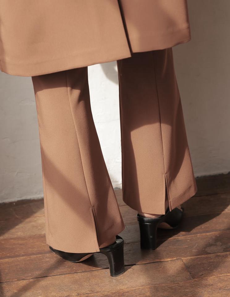 [金子麻貴さん着用][低身長/高身長サイズ有]ストレッチツイルバックスリットダーツパンツ[お急ぎ便対応]