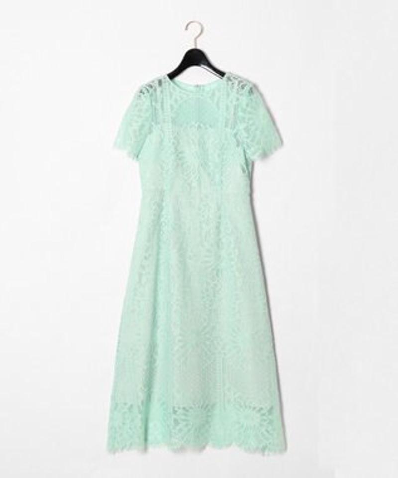 フラワーレースドレス