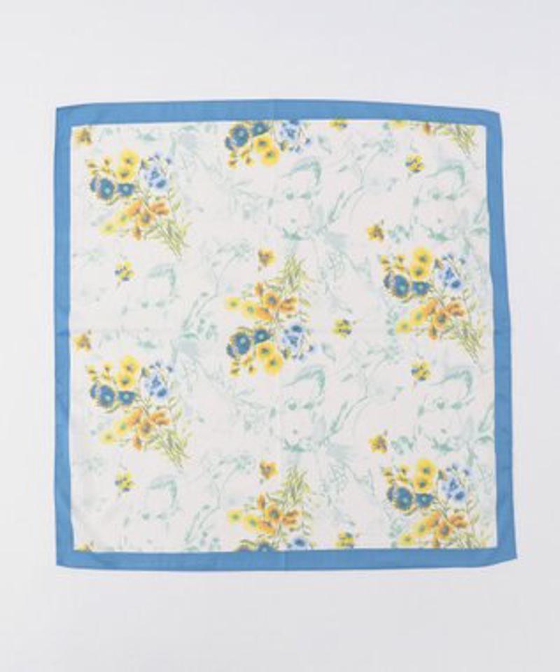 【洗える】ボタニカルフラワースカーフ