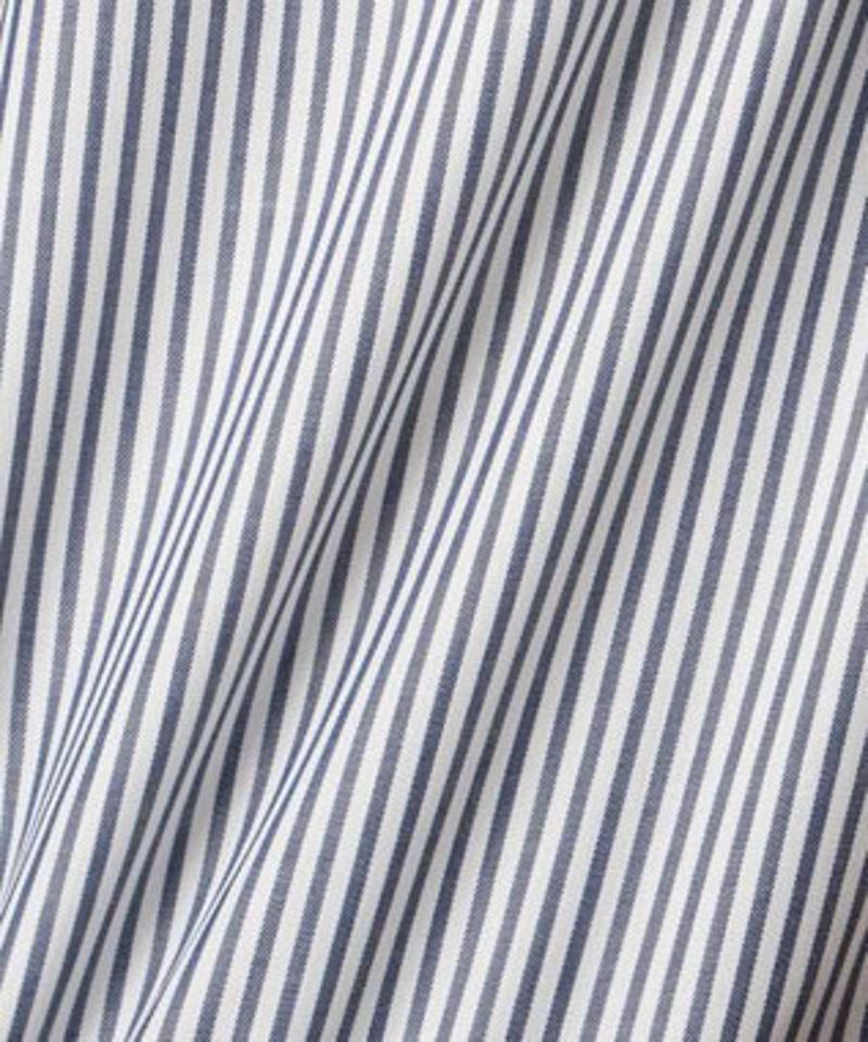 【UVケア】カラーストライプフリル袖 ブラウス