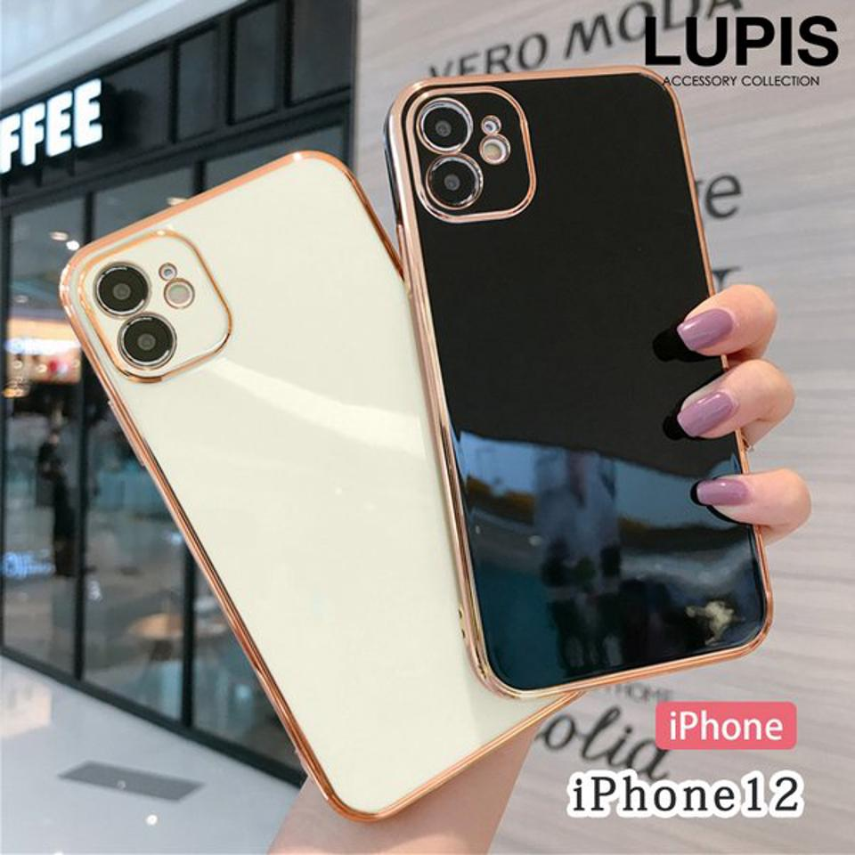 【お買い物マラソンクーポン配布中】iPhoneケース iPhone12 レディース スマホケース メタルフレーム ソフトケース 着脱簡単 激安