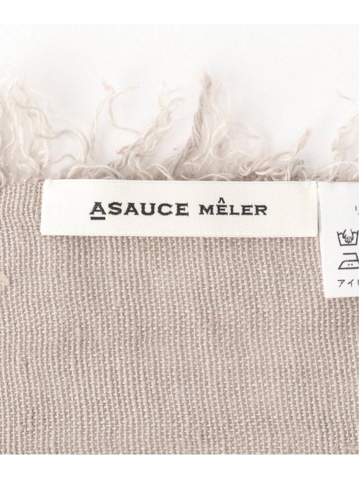 【ASAUCE MELER/アソースメレ】 ライトベルギーリネンフリンジストール