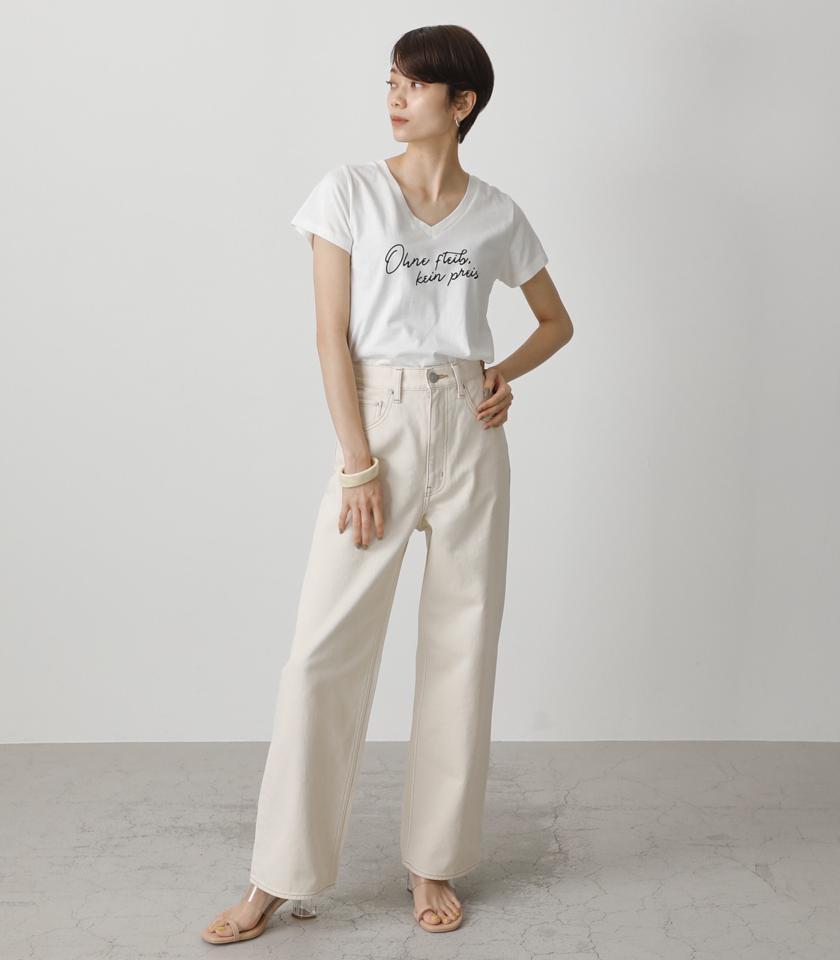 OHNE V NECK TEE/オーネVネックTシャツ