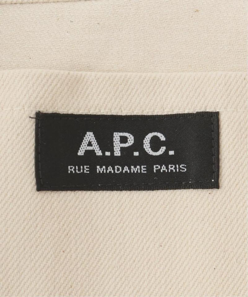 【A.P.C./アー・ペー・セー】TOTE LAURE BLACK ロゴトートバッグ◆(IENA)