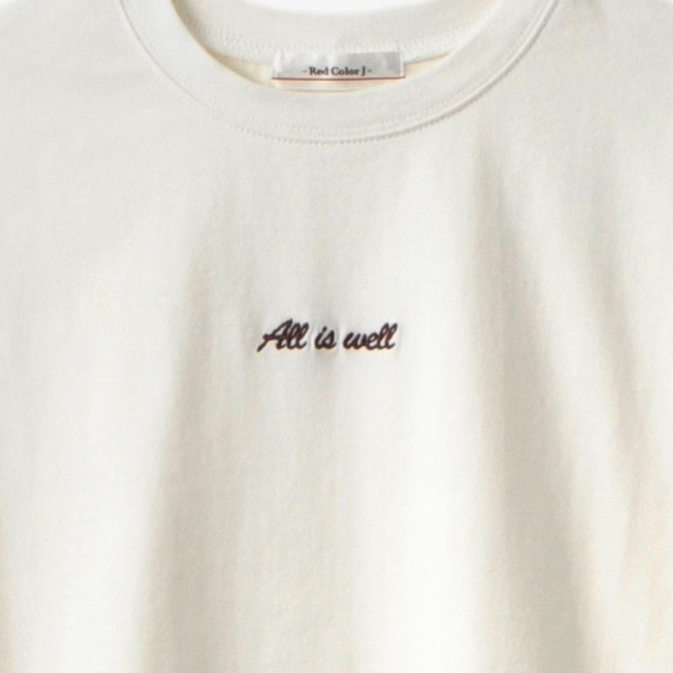 レディース 刺しゅうロゴTシャツ(インフルエンサーaoi)