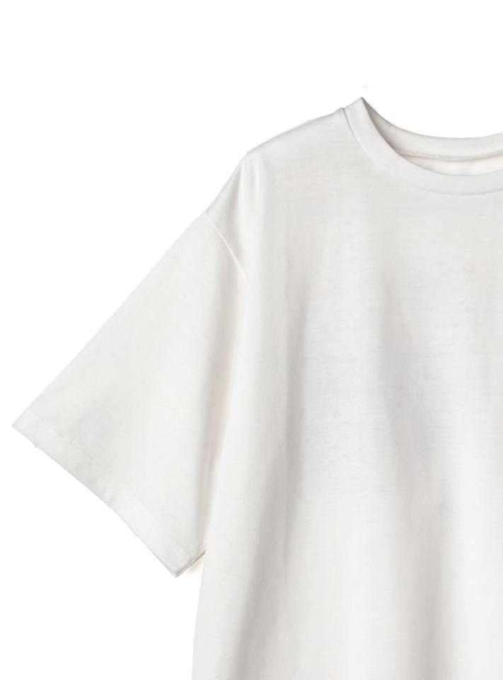 バックフラワーフォトプリントTシャツ