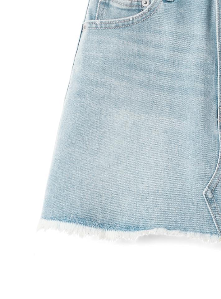 インパン付きデニム台形ミニスカート