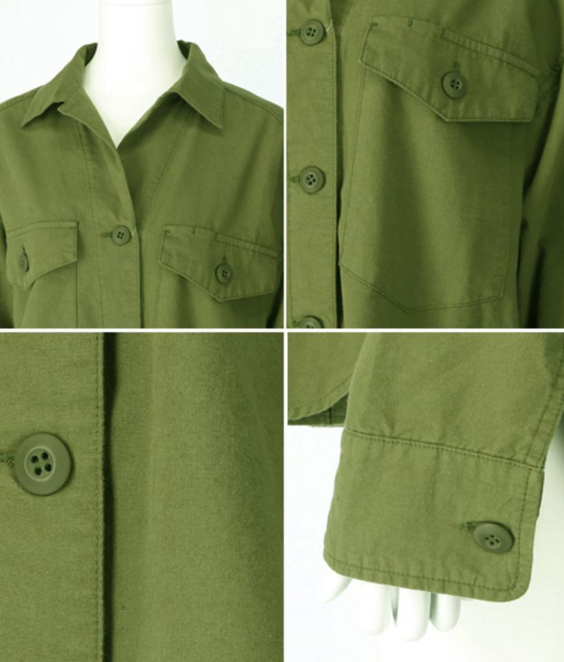 ヴィンテージ風キャンバスシャツ