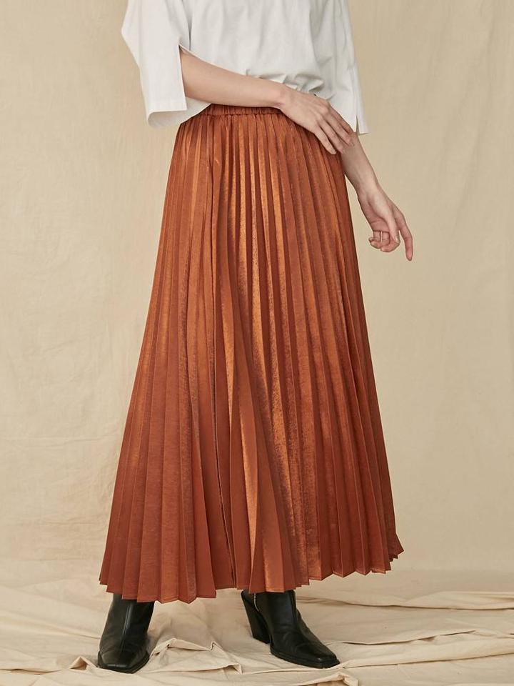 グリッタープリーツスカート