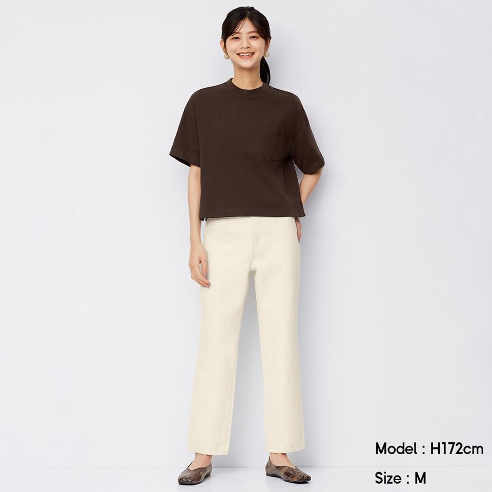 ハイウエストストレートジーンズ(丈標準68~72cm)