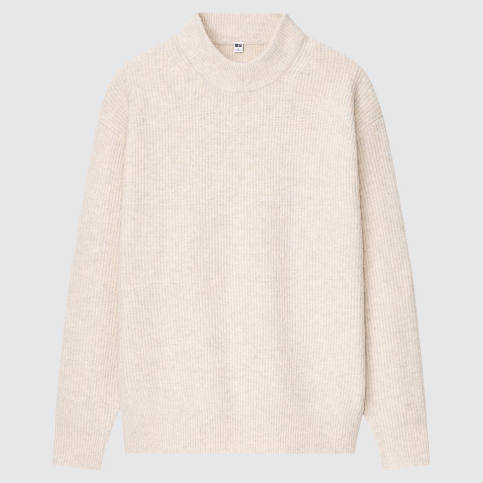 スフレヤーンモックネックセーター(長袖)
