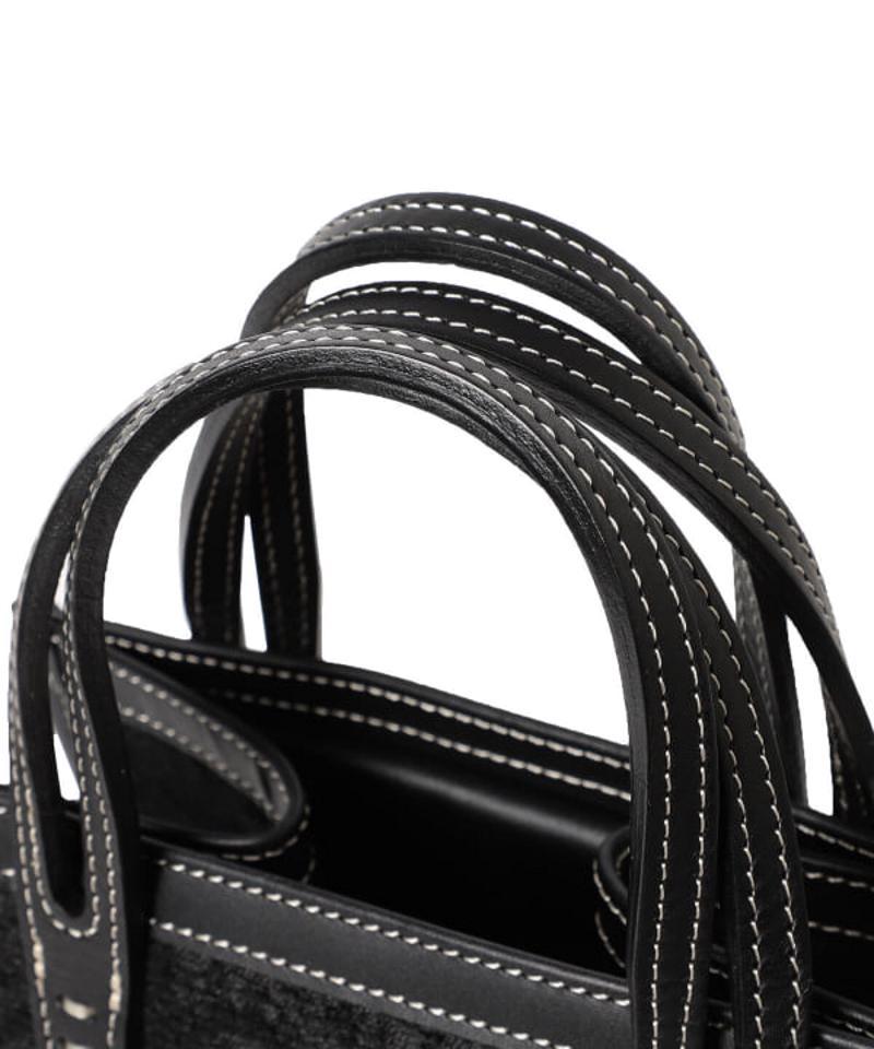 A VACATION / CARAMEL ブラックペイズリー トートバッグ