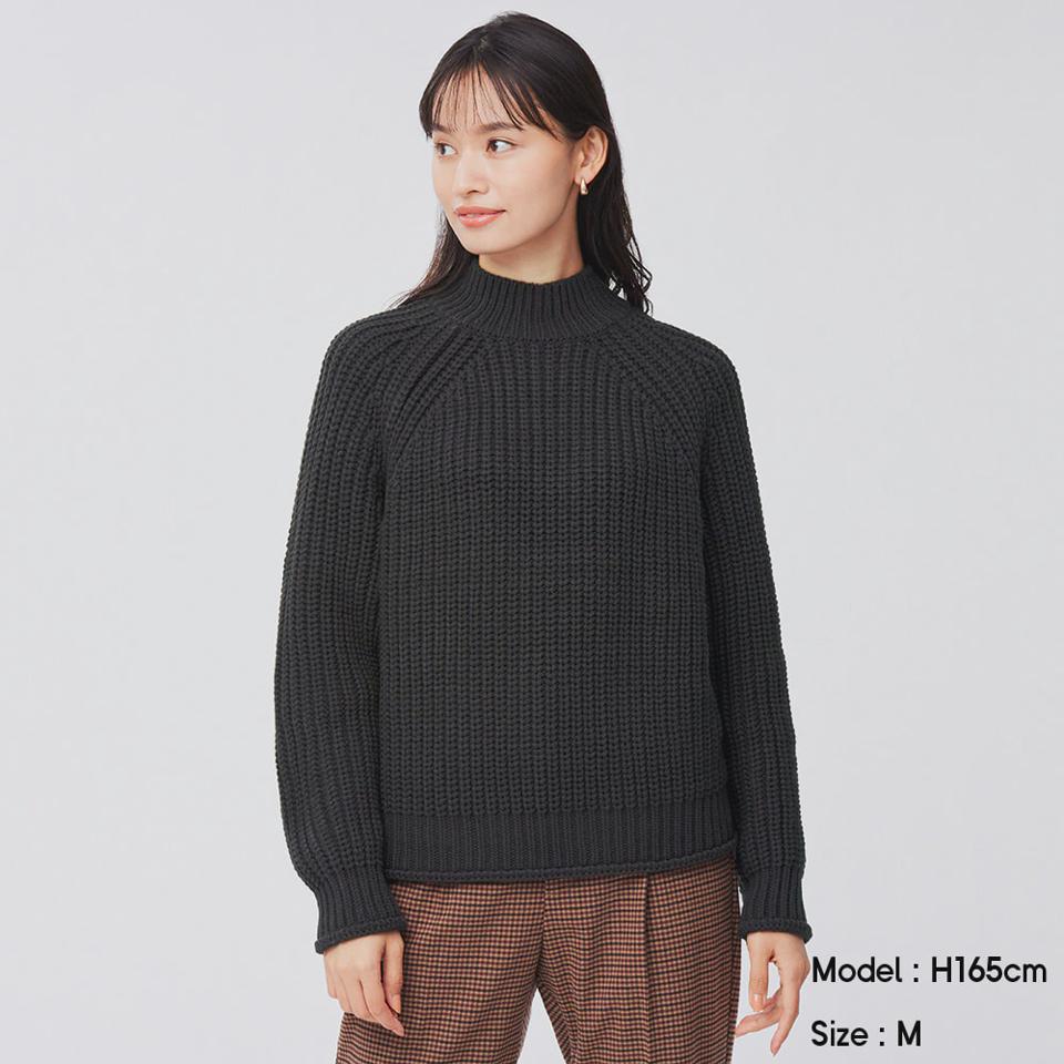 チャンキーニットハイネックセーター(長袖)