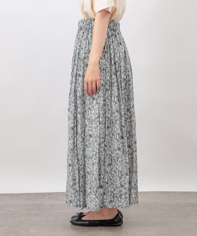 線描きプリントスカート