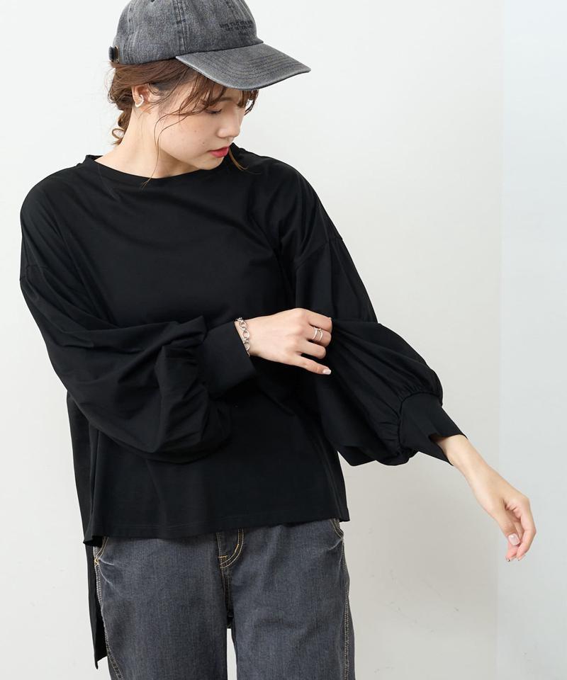 【Du noir】シルケット前後差プルオーバー
