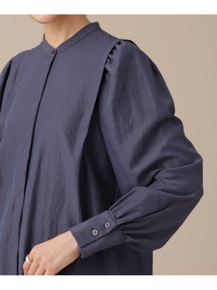 ショルダーギャザーブラウス 長袖