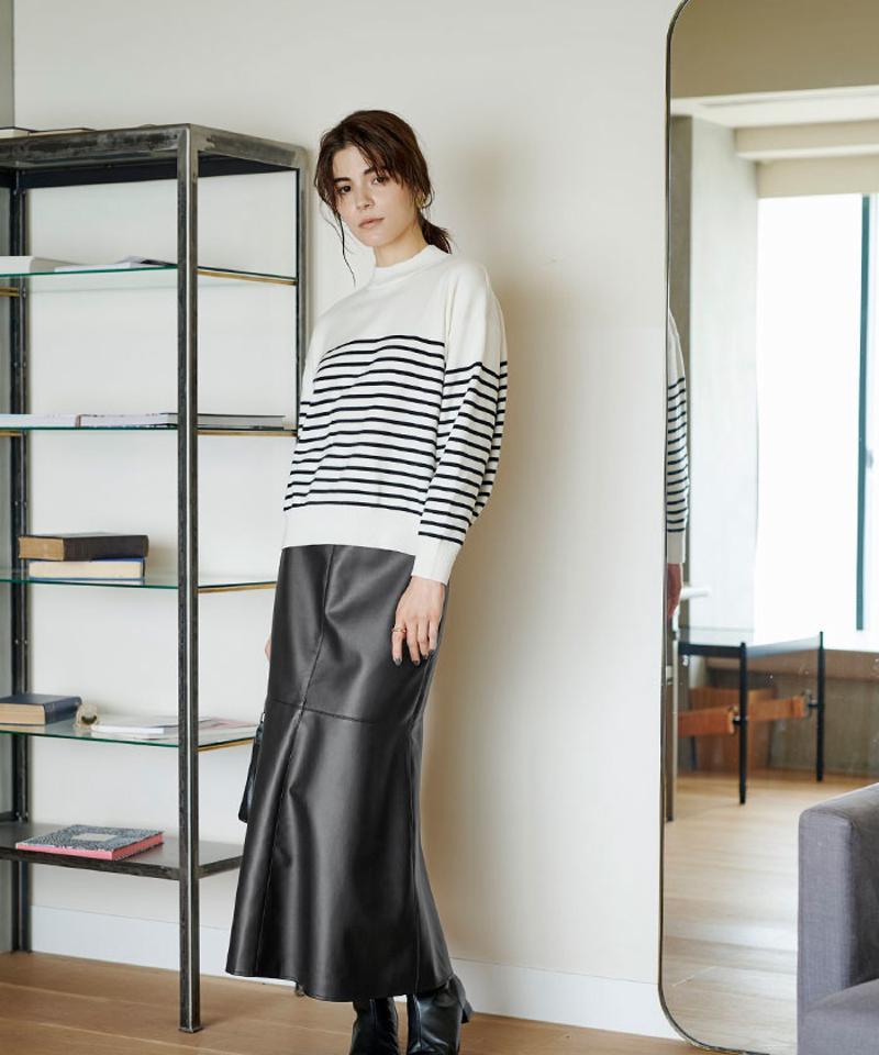 フェイクレザーマーメイドスカート〔人気商品!予約〕
