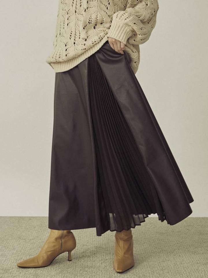 エコレザー2WAYスカート