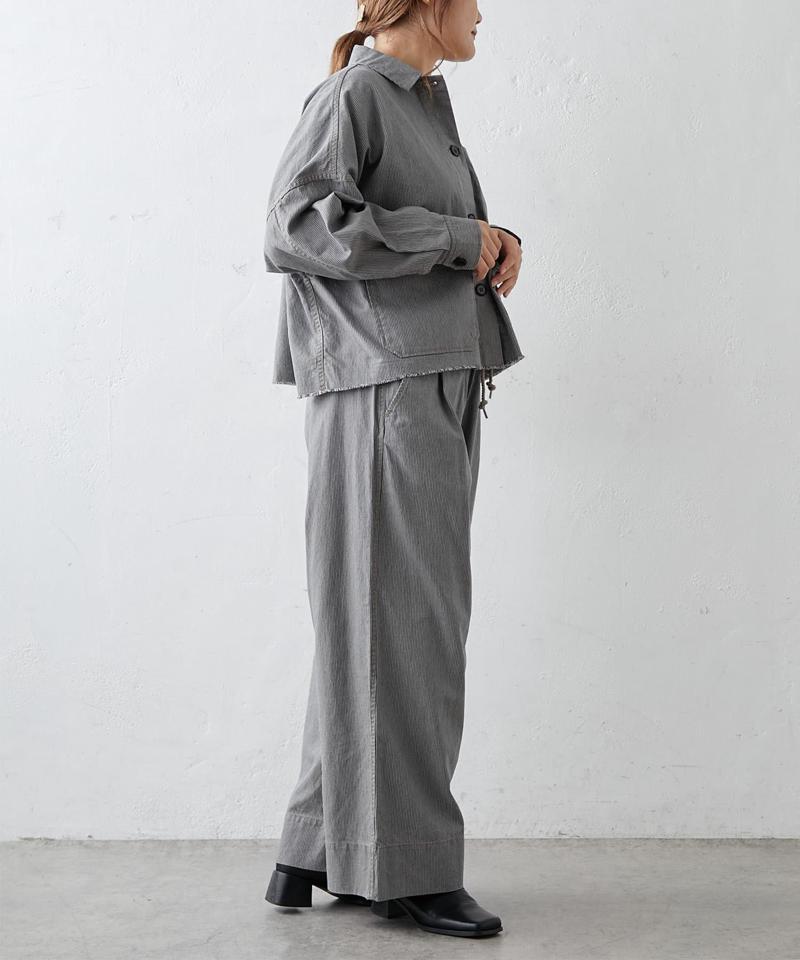 綿ヘンプヒッコリージャケット