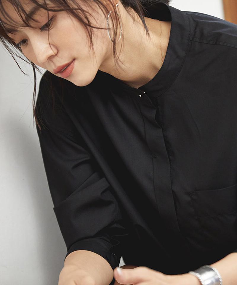バンドカラースリットシャツ【メール便可/100】