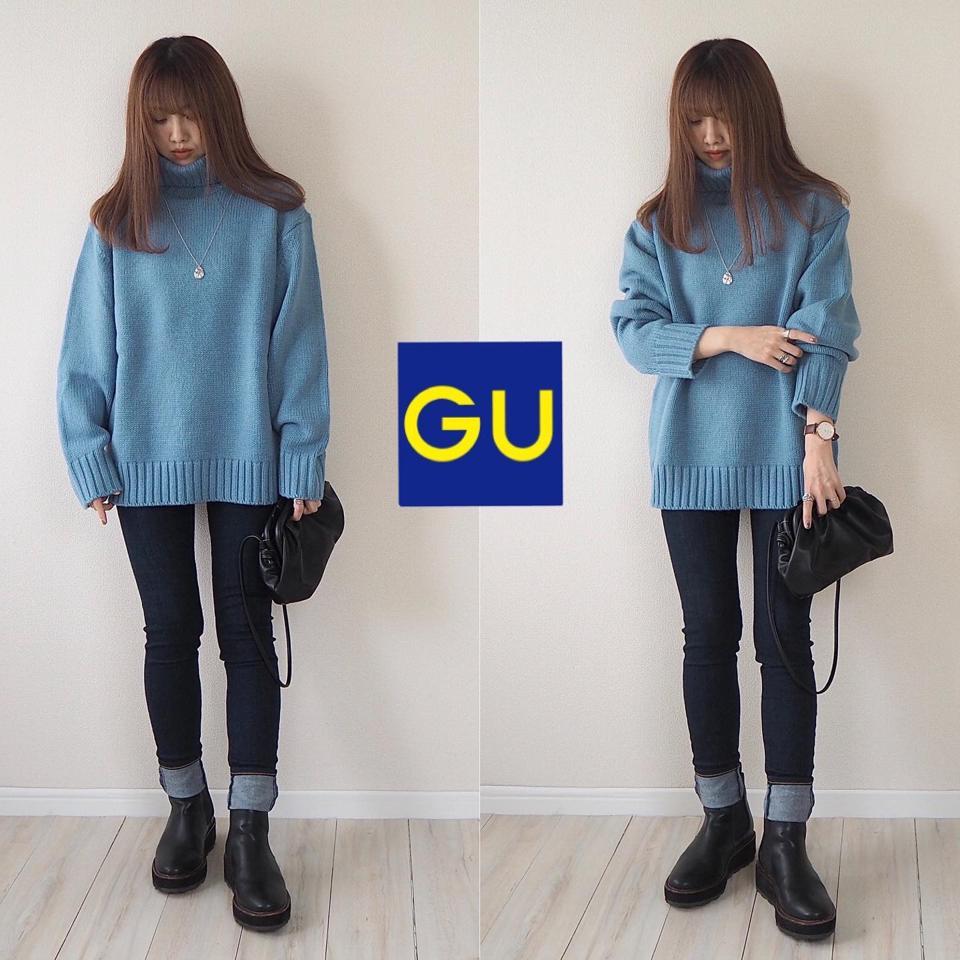 寒色セーター