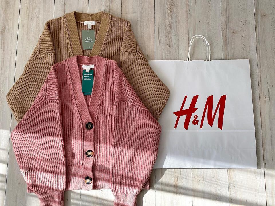 H&M 春カーディガン