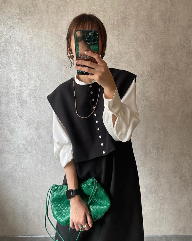 カラーバッグ×グリーン